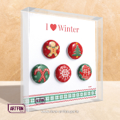 I Love Winter - Le Coffret de 5 Fèves